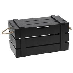 Pudełko z pokrywą drewniane czarne