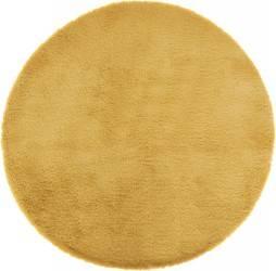 Dywan futrzany 80 cm żółty