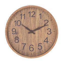 Zegar ścienny imitacja drewna 30 cm beż
