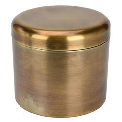 Puszka metalowa złoty mosiądz 15 cm