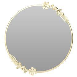 Złote lustro w metalowej ramie 40 cm