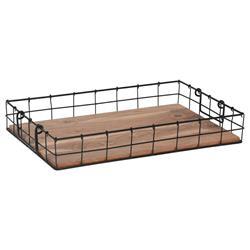 Taca drewniano metalowa Loft 42x20 cm