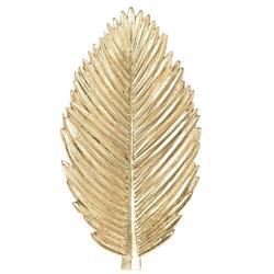 Ozdoba ścienna liść jasne złoto 28 cm