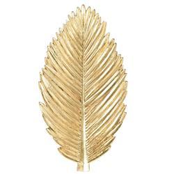 Ozdoba ścienna liść złota 28 cm