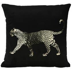 Poduszka z aksamitu Leopard złoty