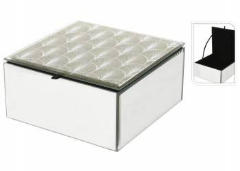 Szklana szkatułka na biżuterię 13 cm