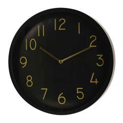 Zegar ścienny czarno złoty 38 cm