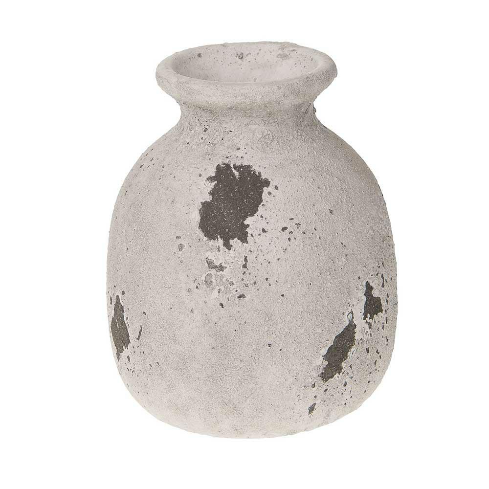 Wazon cementowy szary antyk 16 cm