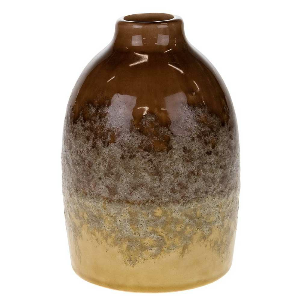 Wazon ceramiczny brązowo żółty 16,5 cm