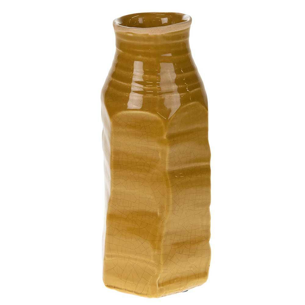 Wazon ceramiczny rustykalny żółty 23 cm