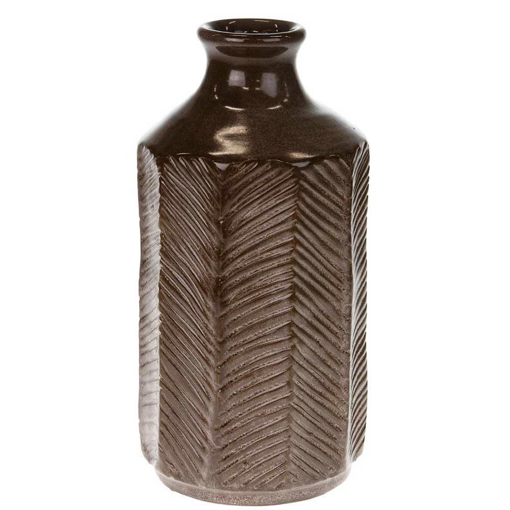 Wazon z terakoty brązowy 27 cm