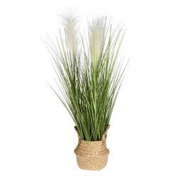 Sztuczna trawa kwitnąca w donicy wzór 2