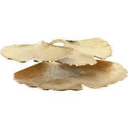Patera trzypoziomowa liście 34 cm