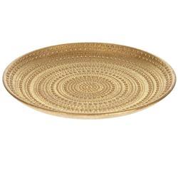 Patera drewniana złota zdobiona 29 cm