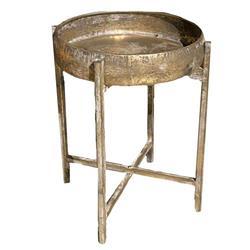 Stolik metalowy antyczne złoto 59x40 cm
