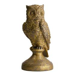 Figurka sowy antyczne złoto 21 cm