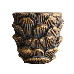 Osłonka na doniczkę ciemne złoto 15 cm